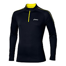 Buy Asics Half Zip Running Top, Black/Yellow Online at johnlewis.com
