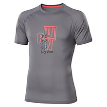 Buy Asics Run Short Sleeve T-Shirt, Stone Online at johnlewis.com
