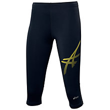 Buy Asics Women's Tiger Cropped Running Tights, Black Online at johnlewis.com
