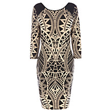 Buy Oasis Tribal Bodycon Dress, Multi Black Online at johnlewis.com