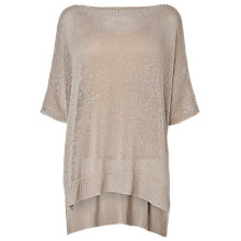 Buy Phase Eight Made in Italy Sandra Step Hem Jumper, Stone Online at johnlewis.com