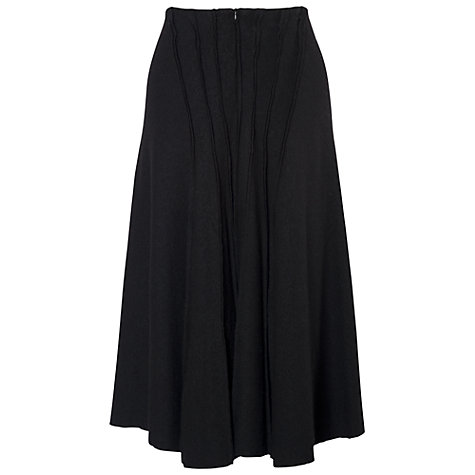 Buy Chesca Seamed Multi Panel Skirt, Black Online at johnlewis.com