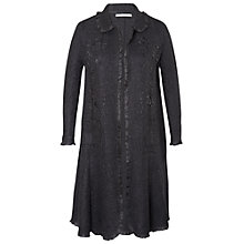 Buy Chesca Peter Pan Collar Crush Pleated Shrug, Black Online at johnlewis.com