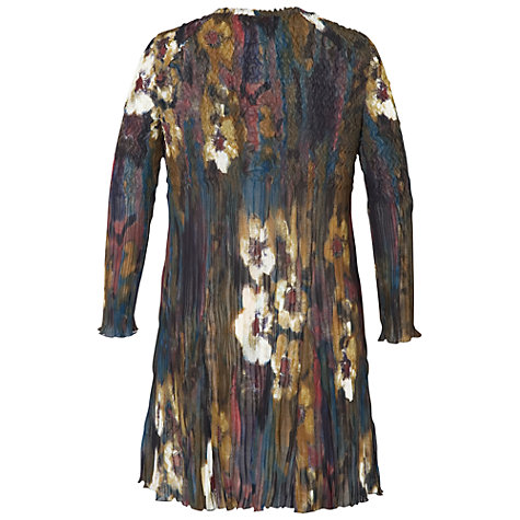 Buy Chesca Winter Bloom Crush Pleated Long Shrug, Chestnut Online at johnlewis.com