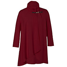 Buy Chesca Cable Collar Coat, Red Online at johnlewis.com