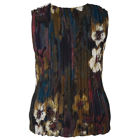 Buy Chesca Winter Bloom Crush Pleated Camisole, Chestnut Online at johnlewis.com