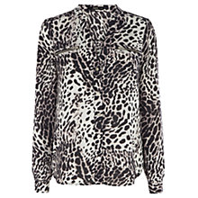 Buy Oasis Animal Mia Blouse, Animal Online at johnlewis.com
