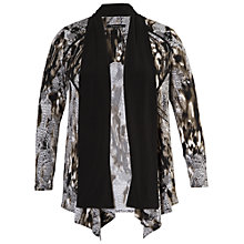 Buy Chesca Knit Print Jersey Shrug, Grey Online at johnlewis.com