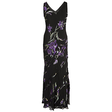 Buy Chesca Asymmetric Cinderella Trim Devoree Dress, Black Online at johnlewis.com