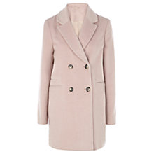 Buy Warehouse Drawn Finish Swing Coat, Light Pink Online at johnlewis.com