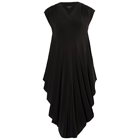 Buy Chesca Jersey Draped Dress, Black Online at johnlewis.com