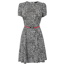 Buy Warehouse Animal Belted Dress, Multi Online at johnlewis.com