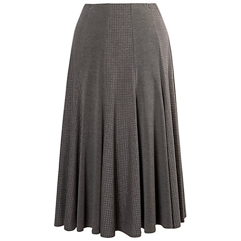 Buy Chesca Studded Melange Jersey Mixed Panel Skirt, Grey Online at johnlewis.com