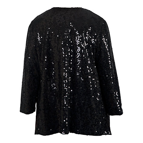 Buy Chesca Sequin Jacket, Black Online at johnlewis.com