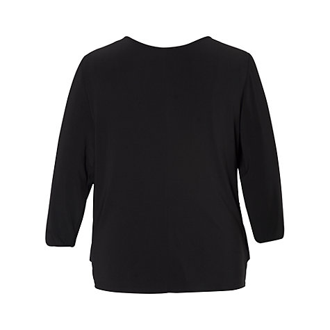 Buy Chesca Sequin Jersey Top, Black Online at johnlewis.com