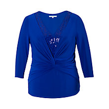 Buy Chesca Sequinned Jersey Top, Royal Blue Online at johnlewis.com