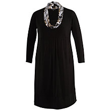 Buy Chesca Printed Collar Knit Jersey Dress, Black Online at johnlewis.com