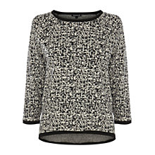 Buy Warehouse Mini Geo Jacquard Jumper, Black Online at johnlewis.com