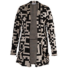 Buy Chesca Geometric Jersey Cardigan, Multi Online at johnlewis.com