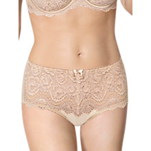Buy Playtex Affinity Flower Lace Full Coverage Briefs, Skin Online at johnlewis.com