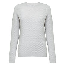 Buy Whistles Carin Cashmere Waffle Crew Neck Jumper, Grey Online at johnlewis.com