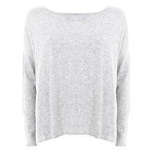 Buy Mint Velvet Square Cut Knitted Jumper, Grey Online at johnlewis.com