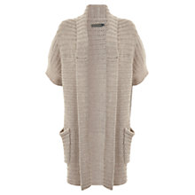 Buy Mint Velvet Longline Cardigan, Oatmeal Online at johnlewis.com