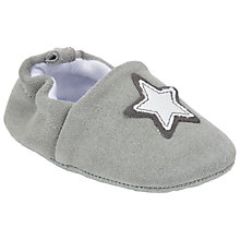 Buy John Lewis Baby Star Booties, Grey Online at johnlewis.com