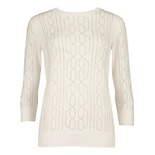 Buy Ted Baker Nalea Studded Jumper, Cream Online at johnlewis.com