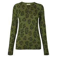 Buy Whistles Blurred Animal Print Jumper, Green Online at johnlewis.com