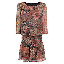 Buy Mango Ruffled Tapastry Dress, Red Online at johnlewis.com