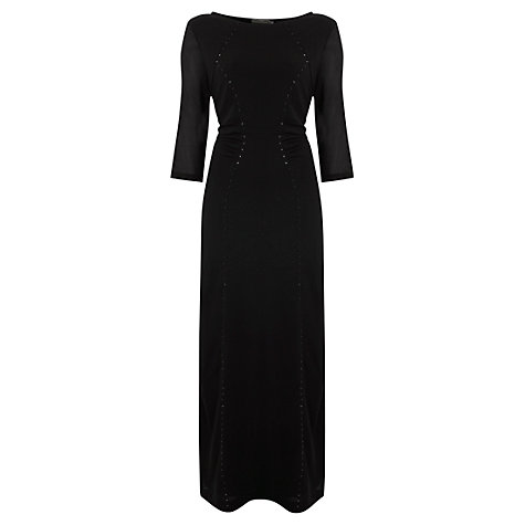 Buy Mint Velvet Stud Bodycon Maxi Dress, Black Online at johnlewis.com