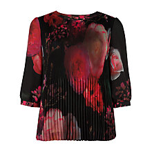 Buy Ted Baker Fedella Printed Top, Black Online at johnlewis.com
