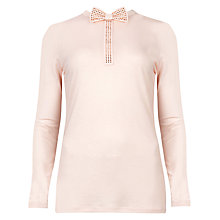 Buy Ted Baker Dalal Studded Bow Neck Detailed Top, Nude Pink Online at johnlewis.com