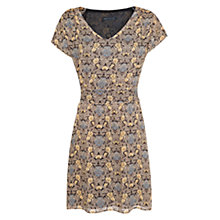 Buy Mango Wool Blend Floral Dress, Black Online at johnlewis.com