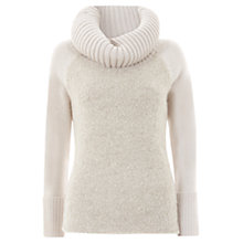 Buy Mint Velvet Boucle Front Cowl Knit Jumper, Vanilla Online at johnlewis.com