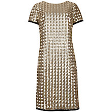 Buy Ted Baker Tabie Cap Sleeve Sequined Dress, Gold Online at johnlewis.com