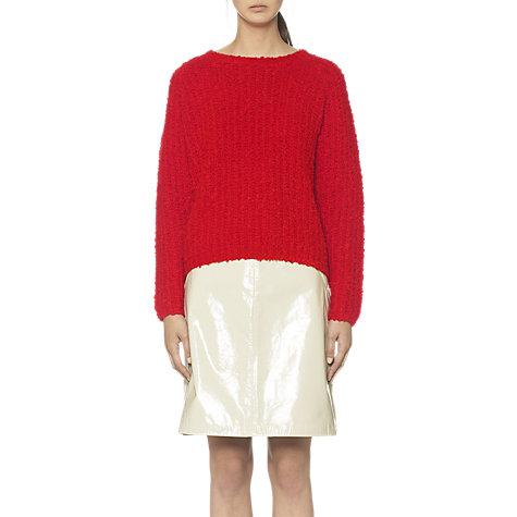 Buy Whistles Emmeline Bouclé Jumper, Red Online at johnlewis.com