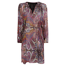 Buy Mango Paisley Print Dress, Medium Pink Online at johnlewis.com