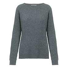 Buy Whistles Maya Waffle Cashmere Jumper, Grey Online at johnlewis.com