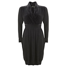Buy Mint Velvet Velvet Knitted Dress, Grey Online at johnlewis.com