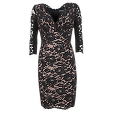 Buy Mint Velvet Lace Shift Dress, Black Online at johnlewis.com