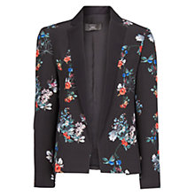 Buy Mango Floral Print Blazer, Dark Grey Online at johnlewis.com
