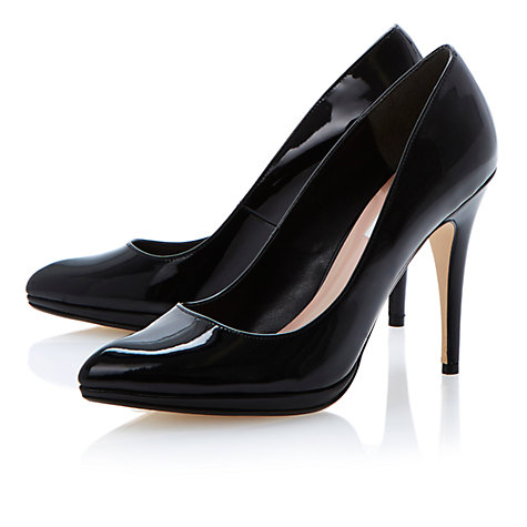 Buy Dune Acutey Court Shoes, Patent Black Online at johnlewis.com