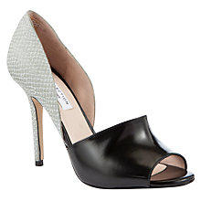 Buy COLLECTION by John Lewis Hampshire Peep Toe Stiletto Sandals, Black/Grey Online at johnlewis.com