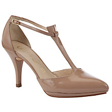 Buy Unisa Peso Patent Court Shoes, Blush Online at johnlewis.com