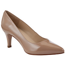 Buy Unisa Melton Patent Leather Court Shoes, Blush Online at johnlewis.com