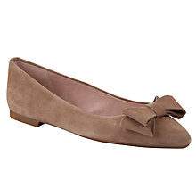 Buy Unisa Acis Fango Suede Ballerina Shoes, Dark Beige Online at johnlewis.com