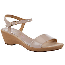 Buy Unisa Irita Patent Leather Sandals, Pale Pink/Nude Online at johnlewis.com