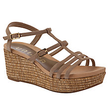 Buy Unisa Kiana Fango Suede Wedge Sandals, Brown Online at johnlewis.com